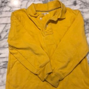 Gap Kids Boys long sleeve gold polo